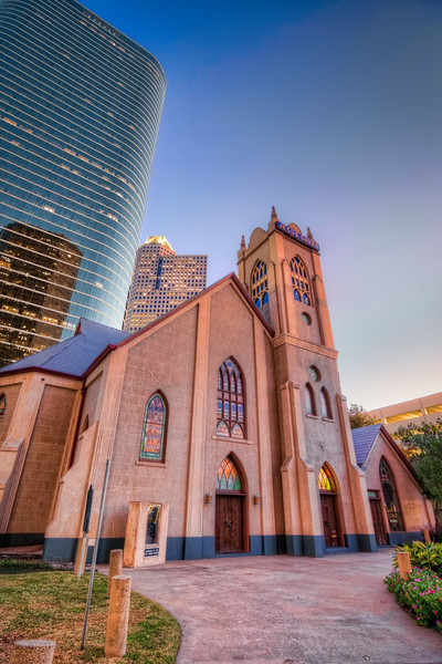 Jesus Saves Again<br /> Recently, I had a chance to revisit a few spots in downtown Houston I had shot last summer, including the Antioch Missionary Baptist Church. It was much earlier in the evening on this trip, so the light was totally different.
