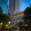 The Old and the New<br /> The modern skyscrapers rise behind the charming Julia Ideson Building, part of the Houston Public Library. This is a great example of a building worth keeping.