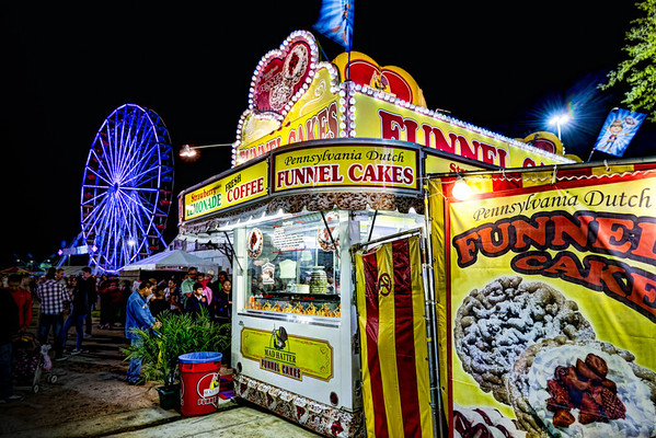 Funnel Cakes<br /> Deep fried with a sprinkling of powdered sugar. No trip to the carnival is complete until you have eaten one (or two) funnel cakes.