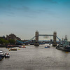 Tower Bridge<br /> Just before I shot The View from Tower Bridge, we rode over the Thames and could see Tower Bridge with the Olympic Rings that had been placed just a few days earlier.