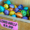 "Clored Shells<br /> I'm not sure where these ""clored"" shells come from, but they add to the local flavor and increase the visual bounty of our seaside shopping adventure."