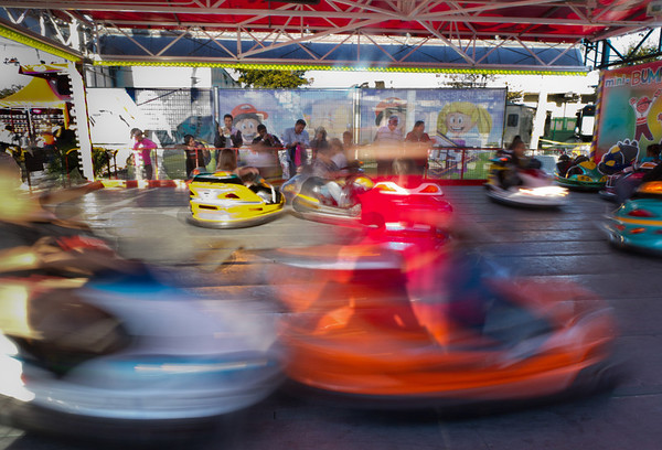 Driving Lessons<br /> A naive person may think this bumper car ride is a fun day at the carnival, but it's really the training grounds for Houston drivers.  Students are taught the fine art of switching three lanes at one time, U-turns without looking and pushing your way through for that last parking spot. Those that survive move on to Interstate 10 and the Galleria parking garage for advance training.