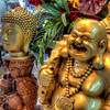 Happy Buddha<br /> Walking through the Hone Kong Market, you find many types of stores, selling all kinds of items from the many cultures that make up Asia.