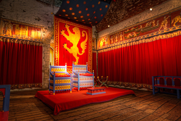 The Throne Room at Dover Castle<br /> This recreation of the Throne Room provides some insite as to how it might have looked in the medieval times.