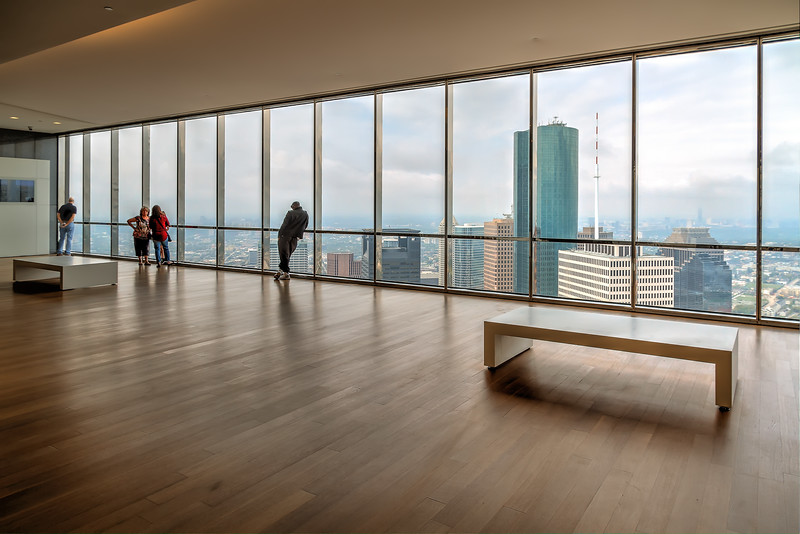 The Chase Tower has a great observation area on the 60th floor to enjoy a view of Houston from above.