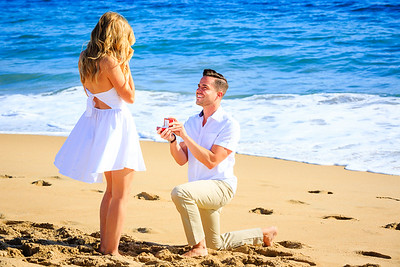 I had such an amazing day yesterday!  I love being part of moments and memories like this.  So cool to have a front row seat to this surprise proposal on a beautiful beach at sunset.