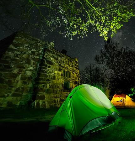 Camping on Wayah Bald Mountain