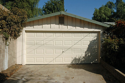 New roll-up garage door installed November 12, 2007.