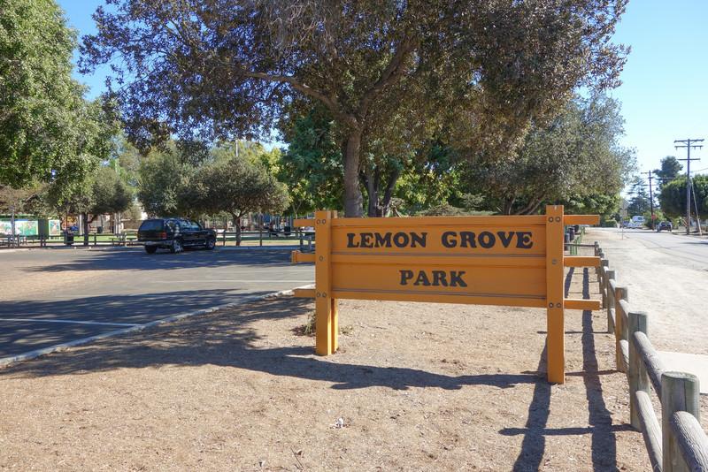 Lemon Grove Park is just across the street.