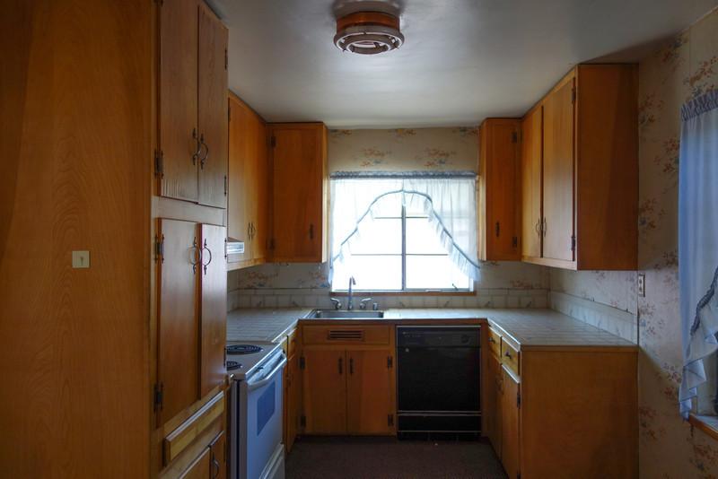 Original pine kitchen cabinets.