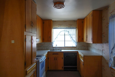 Original pine kitchen cabinets.