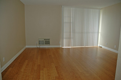 Living room with sliding door to the balcony on the right.