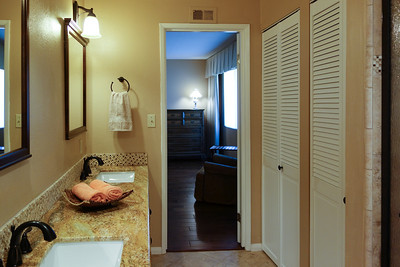 Master bathroom with storage to the right