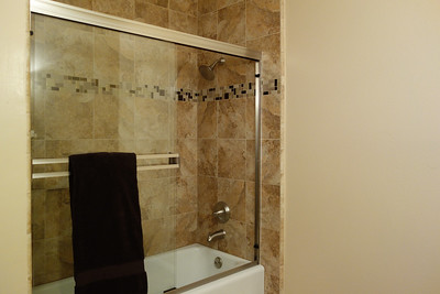 Remodeled hall bathroom