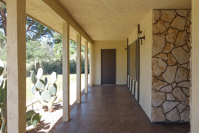 Tiled entry way