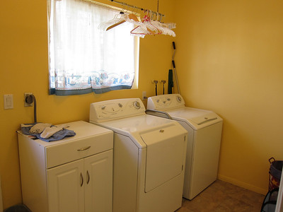 Laundry room has both electric and propane utilities.