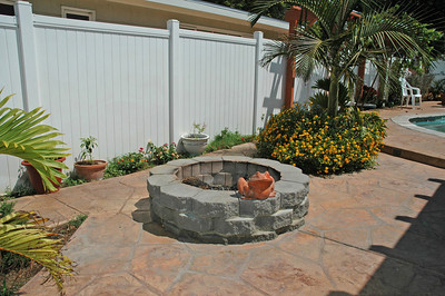The firepit is perfect for the cooler winter evenings.