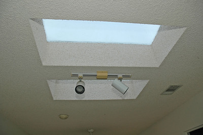 Just two of the four skylights located in the family room.