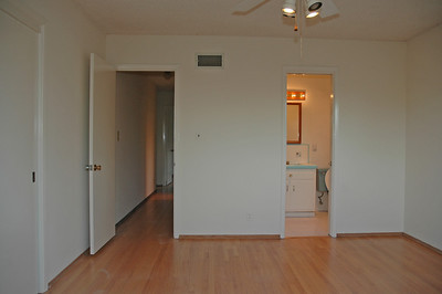 A view of the master bedroom. Closets located to the left.