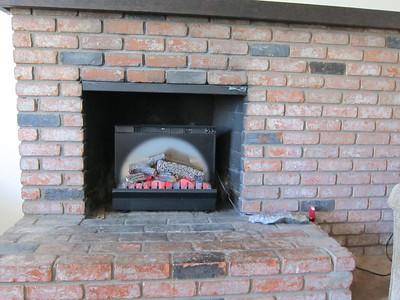 A fireplace closeup...