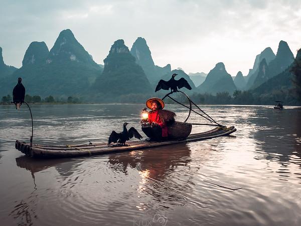 A Comorant Fisherman in China | Asia