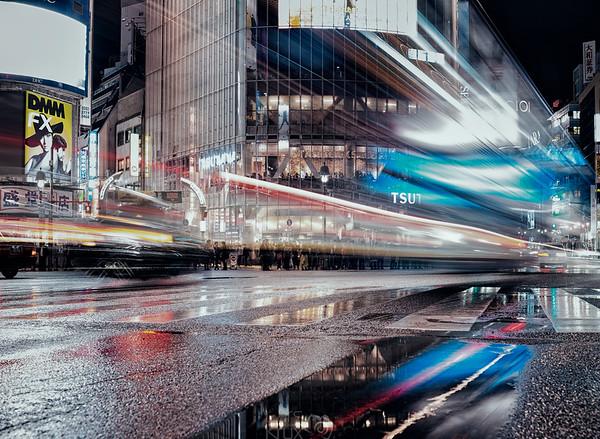 Rainy Night in Tokyo, Shibuya Crossing
