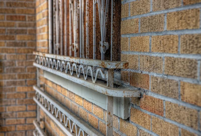 Rusted Window Frame