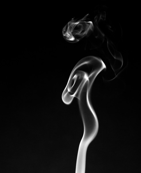 Woman in Smoke