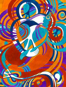 "love ties // 18""x24"" / watercolor original $1,300.00 / gicllee` $250.00"