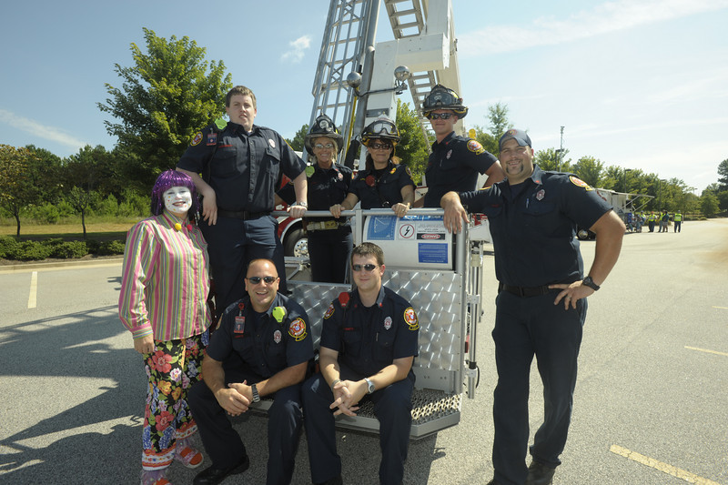 Firefighter/EMT's Kristie Crowe, Joe Martin, Wanda Maddicks, Ben Leverett, Mike Conway, Chris Lenox, Ben Patterson, and Janet Slagle