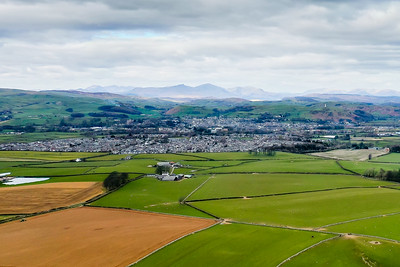 Ulverston with Coniston Old Man in the background