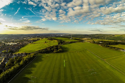 From Blacksnape playing fields near Darwen, Lancashire.