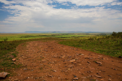 Masai Mara, Kenya A red dirt road on the Masai Mara.