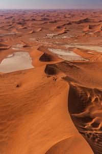 Namib Desert, Namibia An aerial view of dunes in the Namib Desert.