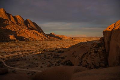 Spitzkoppe, Namibia Sunset at Spitzkoppe.
