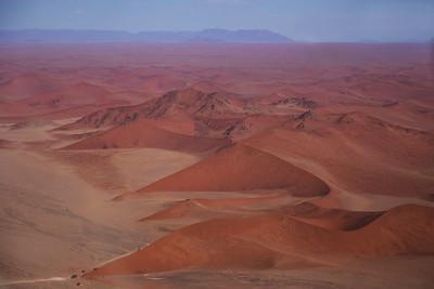 Namib Desert, Namibia An aerial view of Dune 45, a dune in the Sossusvlei area of the Namib Desert.
