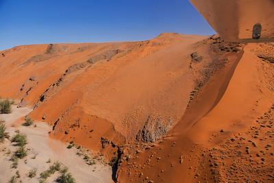 Namib Desert, Namibia Our plane flies down the Tsauchab Canyon in the Namib Desert.