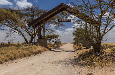 Serengeti National Park, Tanzania Entrance gate to the Serengeti National Park.