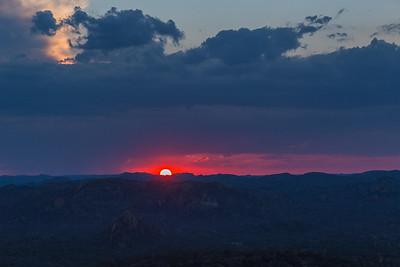 Matobo National Park, Zimbabwe Sunset over Zimbabwe  at the gravesite of Cecil Rhodes in Matobo National Park.