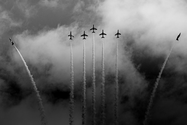 Red Arrows black and white break