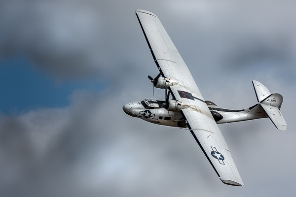 Consolidated PBY Catalina turning in flight