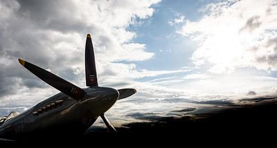 Spitfire into the sun