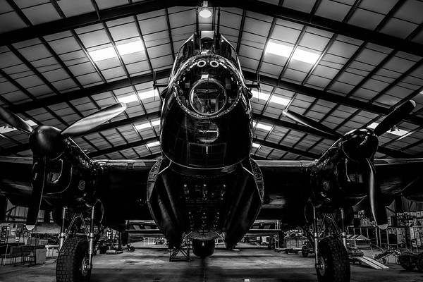 Lancaster Bomber Just Jane BNW