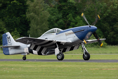 P-51D Mustang preparing for takeoff