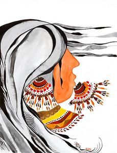 """desert winds // 18""""x24"""" / watercolor original $1,050.00 / gicllee` $250.00"""