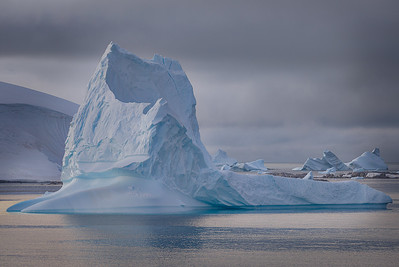 """Antarctica: I titled this image """"Iceberg Caldera"""" because its shape reminded me of the caldera left over after a volcanic eruption occurs."""