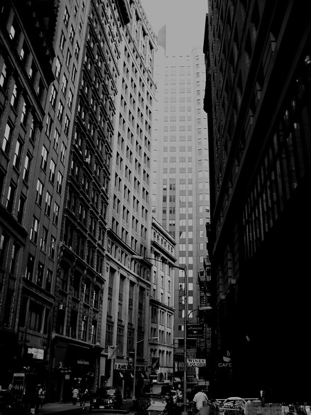 Inside the Financial area in New York.