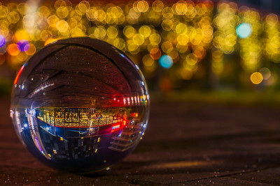 Cathedral Quarter through a Glass Ball (Late night Bokeh)