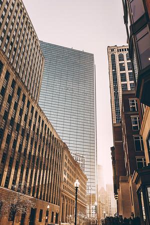 Central Boston in Winter