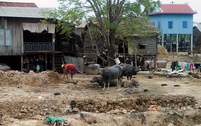 Phnom Penh, Cambodia A house in a village outside Phnom Penh.